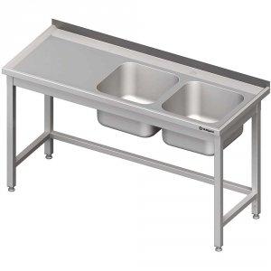 Stół ze zlewem 2-kom.(P),bez półki 1800x700x850 mm