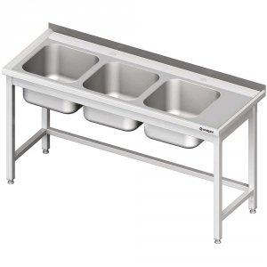 Stół ze zlewem 3-kom.(L),bez półki 1900x600x850 mm