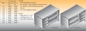 Stół roboczy z blokiem szuflad i szafką otwartą lo 136/s3 - 1200x700