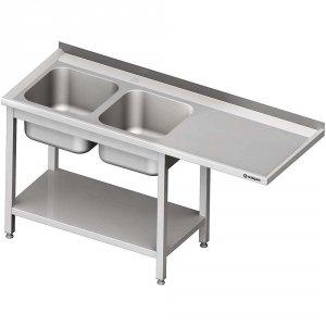 Stół ze zlewem 2-kom.(L) i miejscem na lodówkę lub zmywarkę 2200x700x900 mm