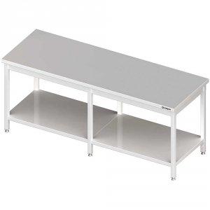 Stół centralny z półką 2400x800x850 mm spawany
