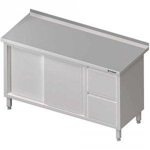 Stół przyścienny z blokiem dwóch szuflad (P),drzwi suwane 1900x700x850 mm