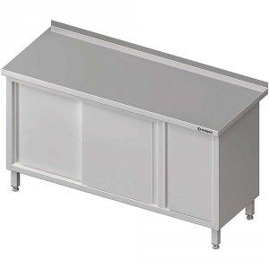 Stół przyścienny z szafką (P),drzwi suwane 1600x600x850 mm