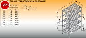 Regał z półkami przestawnymi ociekowymi lo 606 - 900x600
