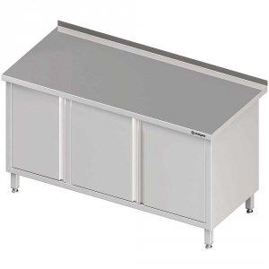 Stół przyścienny z szafką (L),drzwi skrzydłowe 1400x700x850 mm