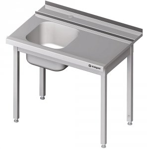 Stół załadowczy(P) 1-kom. bez półki do zmywarki STALGAST 1200x750x880 mm skręcany
