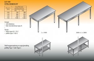 Stół roboczy lo 100 1400/600