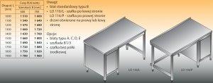 Stół roboczy z szafką lo 116/l; lo 116/p 1200/700