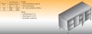Stół roboczy z dwoma blokami szuflad i szafką lo 145/s2 - 1800x700