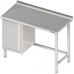 Stół przyścienny z szafką (L),bez półki 1600x700x850 mm