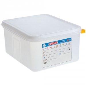 Pojemnik z polipropylenu z pokrywką szczelną, GN 1/2, H 200 mm