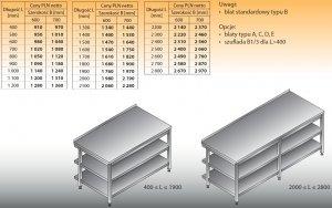 Stół roboczy lo 102/2 1600/700