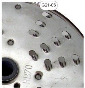 Tarcza nierdzewna wiórki 7mm - G21-06