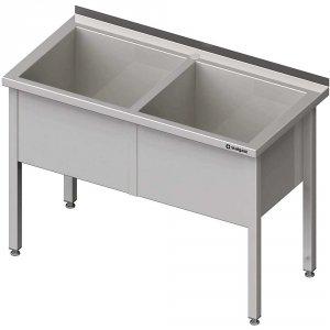 Stół z basenem 2-komorowym spawany 1600x600x850 mm h=400 mm