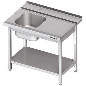 Stół załadowczy(P) 1-kom. z półką do zmywarki STALGAST 1000x750x880 mm skręcany