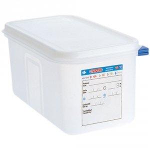 Pojemnik z polipropylenu z pokrywką szczelną, GN 1/3, H 100 mm