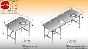 Stół sortowniczy prosty prawy lo 302 - 1700x1200 Lozamet
