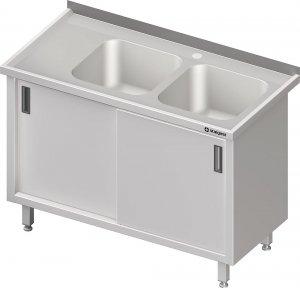 Stół ze zlewem 2-kom.(P),drzwi suwane 1800x700x850 mm