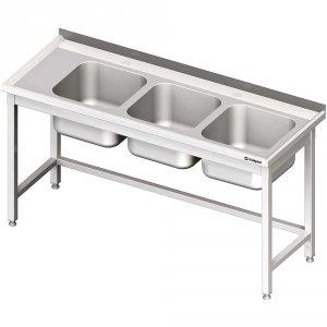 Stół ze zlewem 3-kom.(P),bez półki 1900x700x850 mm