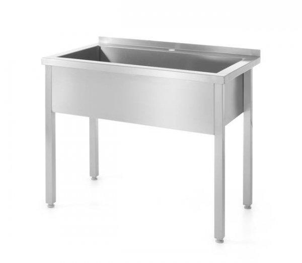 Stół z basenem jednokomorowym -spawany 1000x600x(H)850