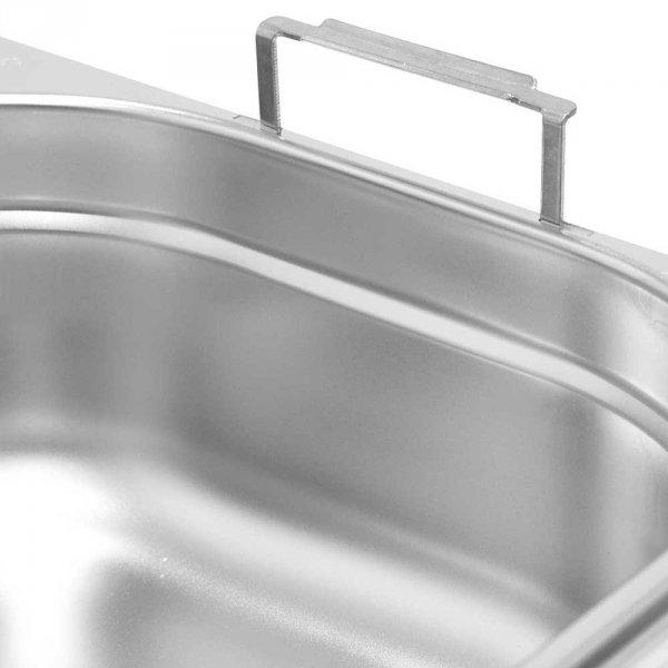 pojemnik stalowy z uchwytami, GN 1/3, H 100 mm