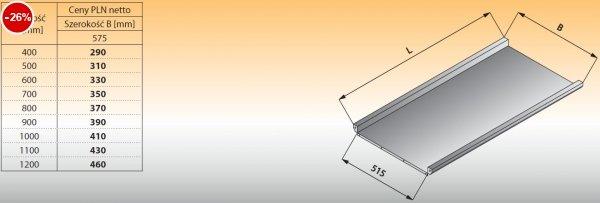 Płyta stołu przelotowego prostego lo 316 - 900x575 Lozamet