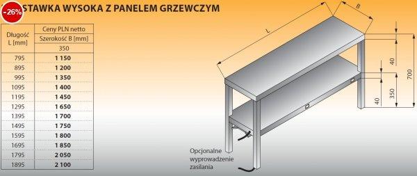 Nadstawka wysoka z panelem grzewczym lo 714 - 995x350