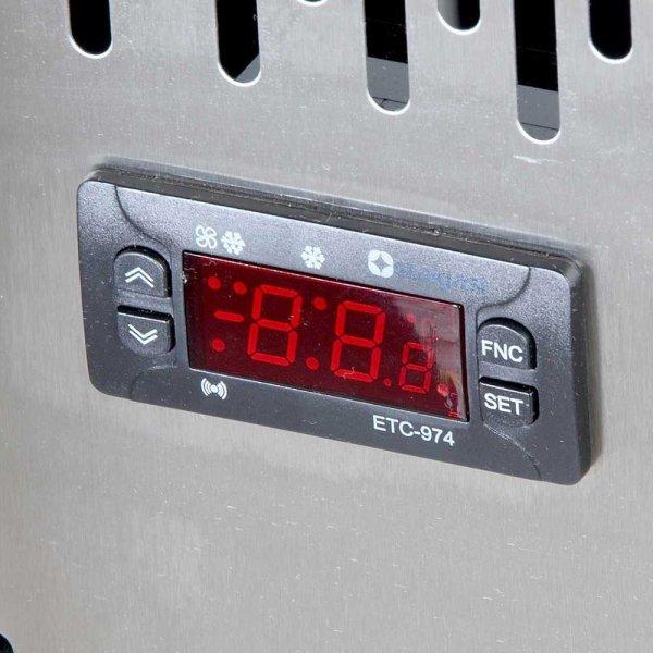 stół chłodniczy 2 drzwiowy, agregat po prawej stronie, V 314 l