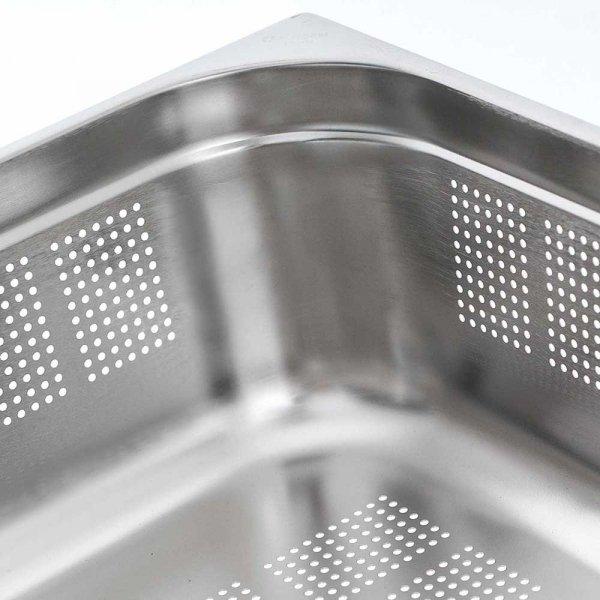 pojemnik stalowy, perforowany, GN 1/1, H 150 mm