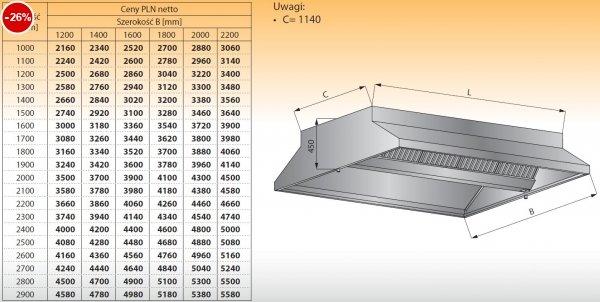 Okap centralny bez oświetlenia lo 911/1 - 1100x1400