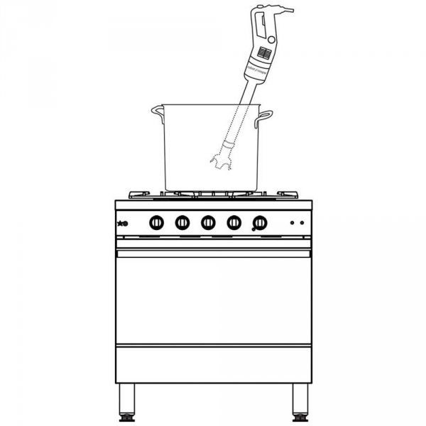 mikser ręczny, MP 350 V.V., P 0.44 kW, U 230 V