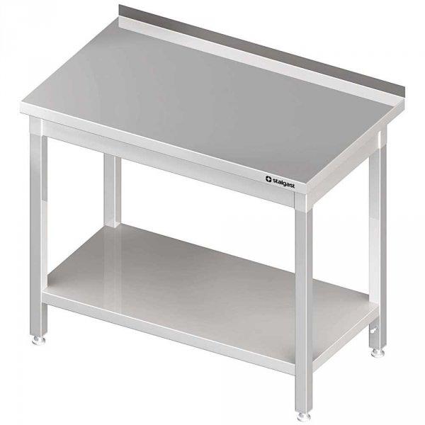 stół stalowy z półką, przyścienny, spawany, 1200x700x850 mm