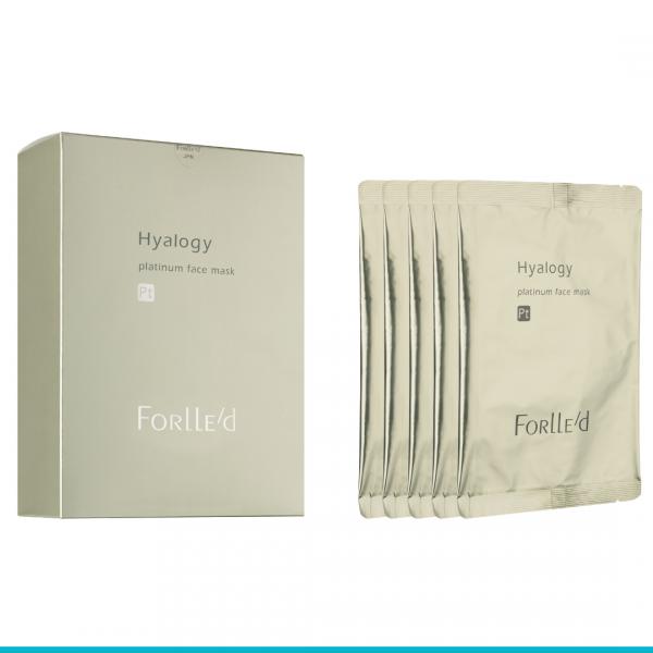 Hyalogy Platinum Face Mask maska przeciwstarzeniowa  w płacie 5 szt.