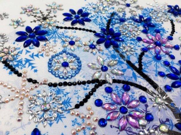 Haft Diamentowy Zimowe Drzewko 30x30 cm
