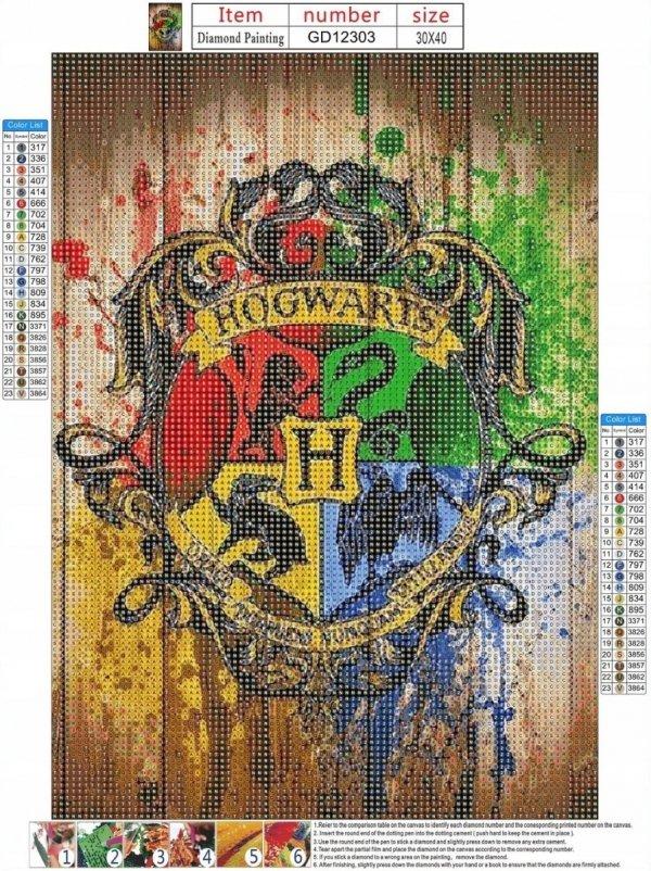 STREFA CEN: HARRY POTTER HOGWART 30x40 cm