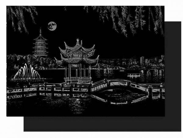 Magiczna Zdrapka West Lake Hangzhou 40x28cm