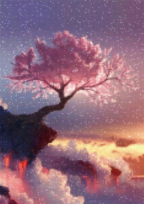 Haft Diamentowy Drzewo Życia 30x40 cm