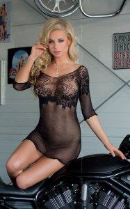 Butterfly czarna seksowna mini sukienka S-L