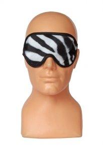 Zebra opaska na oczy