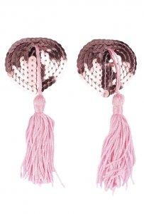 Nakładki na sutki SERCA różowe nasutniki z pomponikami