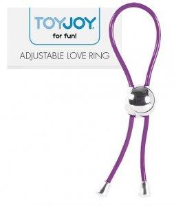 Adjustable Love Ring zaciskowa nakładka erekcyjna na penisa Toy Joy
