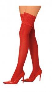Czerwone pończochy Roxana S/M
