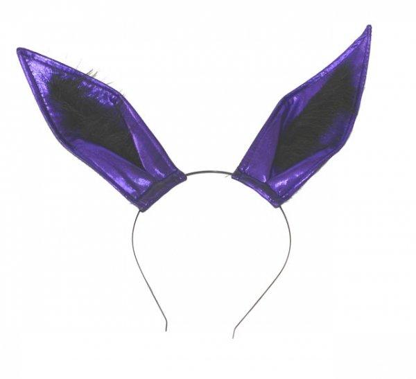 Fioletowe Uszy Króliczka - Opaska na głowę