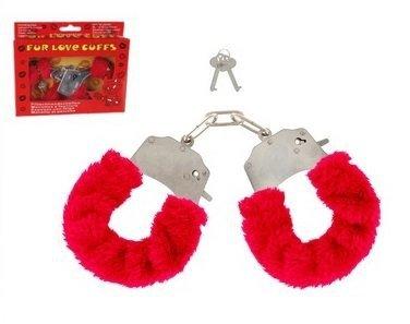 Czerwone kajdanki Fur Love Cuffs