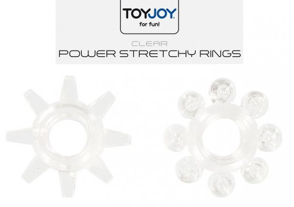 Power Stretchy Clear 2x erekcyjny ring na penisa