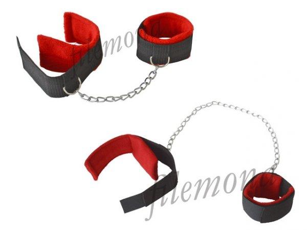 zestaw mankiety kajdanki na nogi i ręce