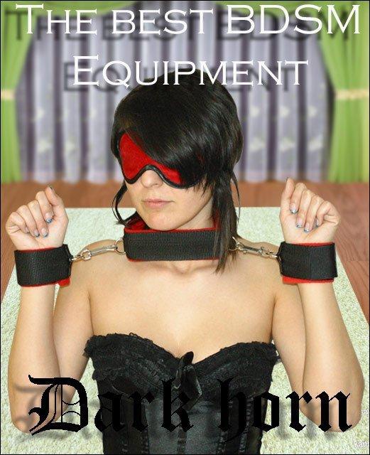 Dark Horn Collar+ zestaw BDSM