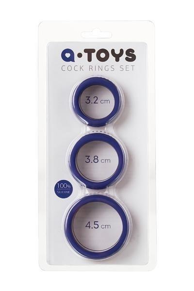 Silikonowe grube ringi erekcyjne A-Toys opakowanie