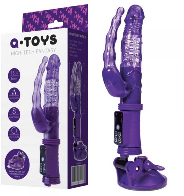 Wibrator Hi Tech A-Toys Fantasy analno-waginalny z przyssawką