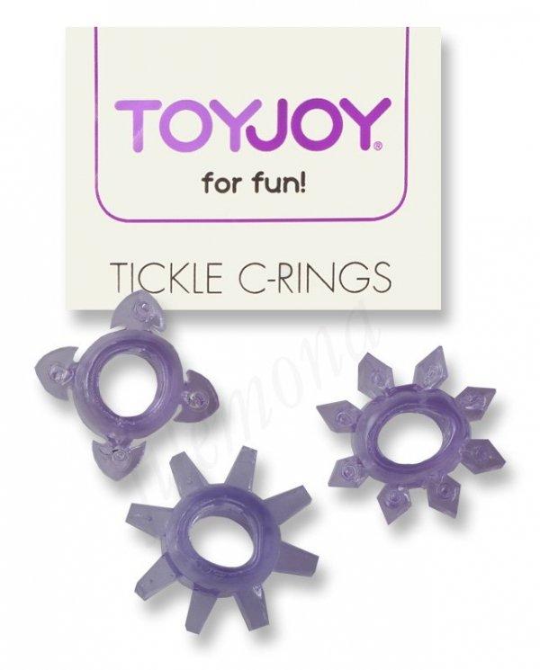 Ringi erekcyjne Tickle C-Rings 3x